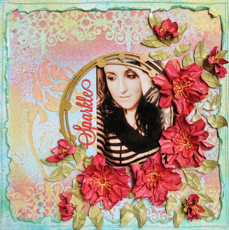 Lisa july Lindy's Stamp Gang Color Challenge