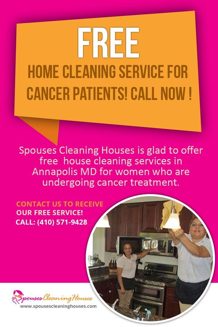 Spouses Cleaning Houses is glad to offer free #house_cleaning_services_in_Annapolis_MD for women who are undergoing cancer treatment.