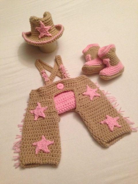 Uncinetto bambino neonato attraverso vestito amazzone 6 mos completo con screpolature, copertura del pannolino, amazzone cappello stivali puntello fotografia