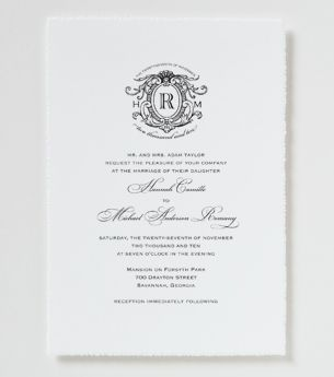 Love Logo #16 Wedding Invitation - Traditional Wedding Invitation $466.00 plus 50 for deckle edge