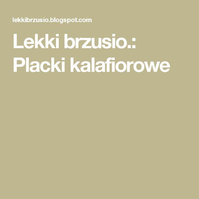 Lekki brzusio.: Placki kalafiorowe