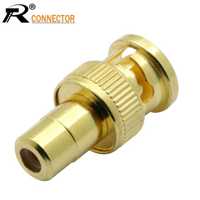 5x BNC Connector Female to RCA Female Jack Coax Coaxial Cable Gold CCTV Adapter
