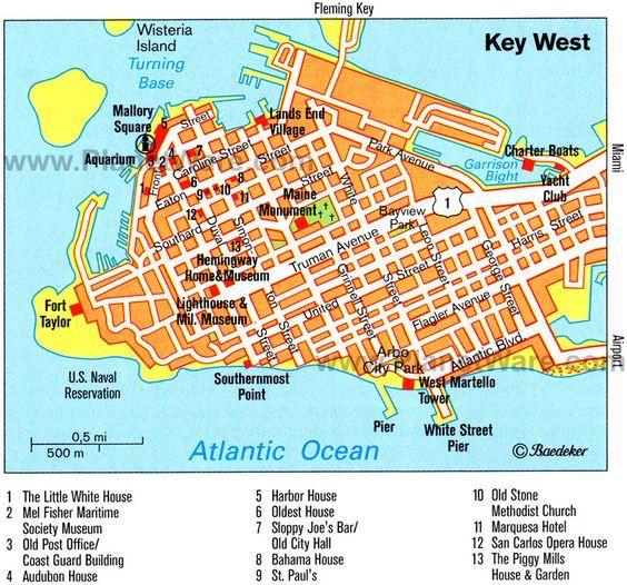 Key West | Key West Map - Attractions Always a great time in Key West.  www.MyGetawayPlan.com