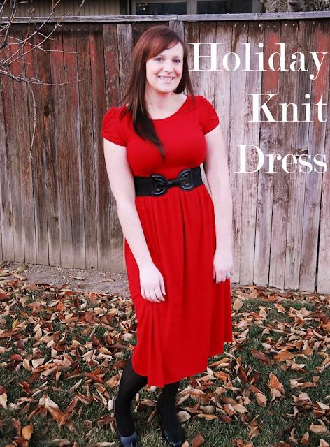 Diy holiday knit dress one stitch at a time pinterest