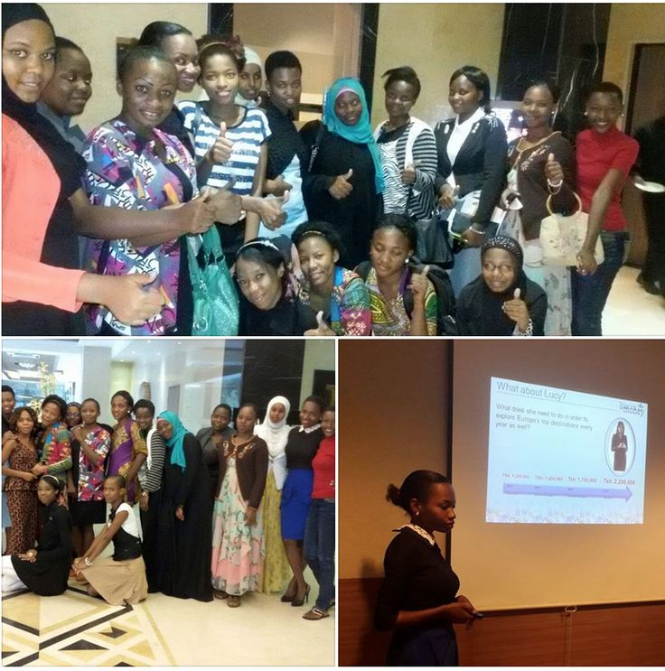 Jessica's kicking of Help to Help & Oriflame Program for Future Female Business Leaders.(from Universities) Started with Show me the money training. By: Fortuglory Nkya