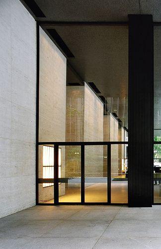 Seagram Building, Park Avenue, New York  by Ludwig Mies van der Rohe in 1954-58