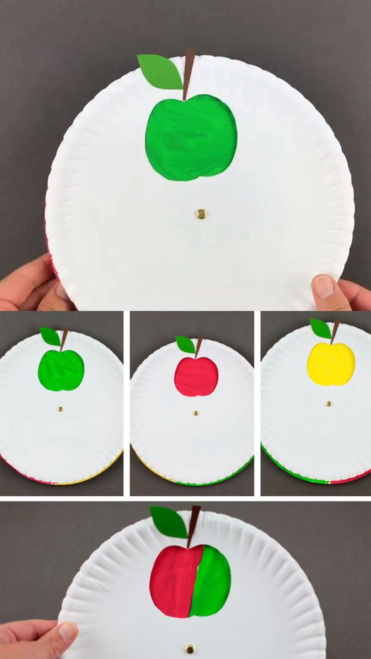 Color changing apple craft