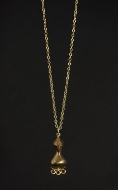 Gilded bronze pendant necklace by Jorma Laine