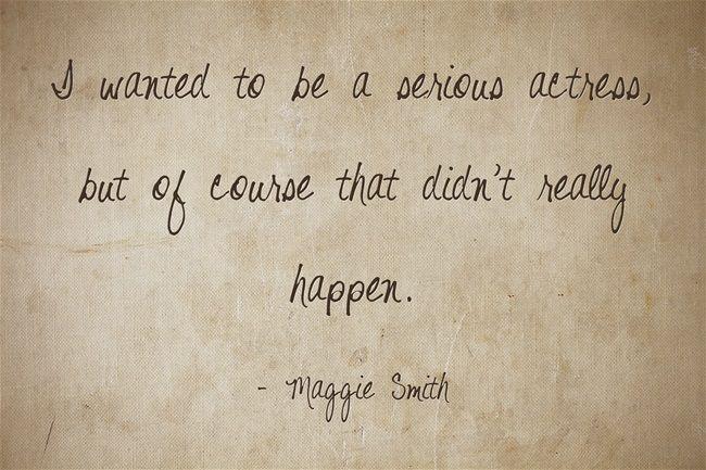 Nachträglich herzlichen Glückwunsch an die Schauspielerin Maggie Smith, die gestern 80 Jahre alt geworden ist!