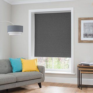How The Grey Block Out Roller Blind Is Matching With Livingroom S Interior Blindsandcurtainsdiy
