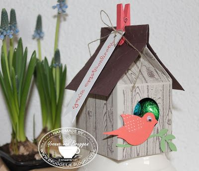 Yvonne is Stampin' & Scrapping: Stampin' Up! Bakers Box Birdhouse  #stampinup