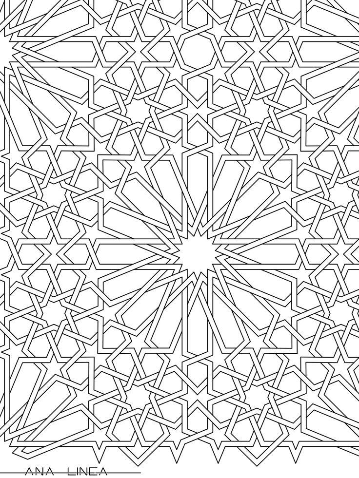 Resultado de imagen de azulejos arabes para colorear