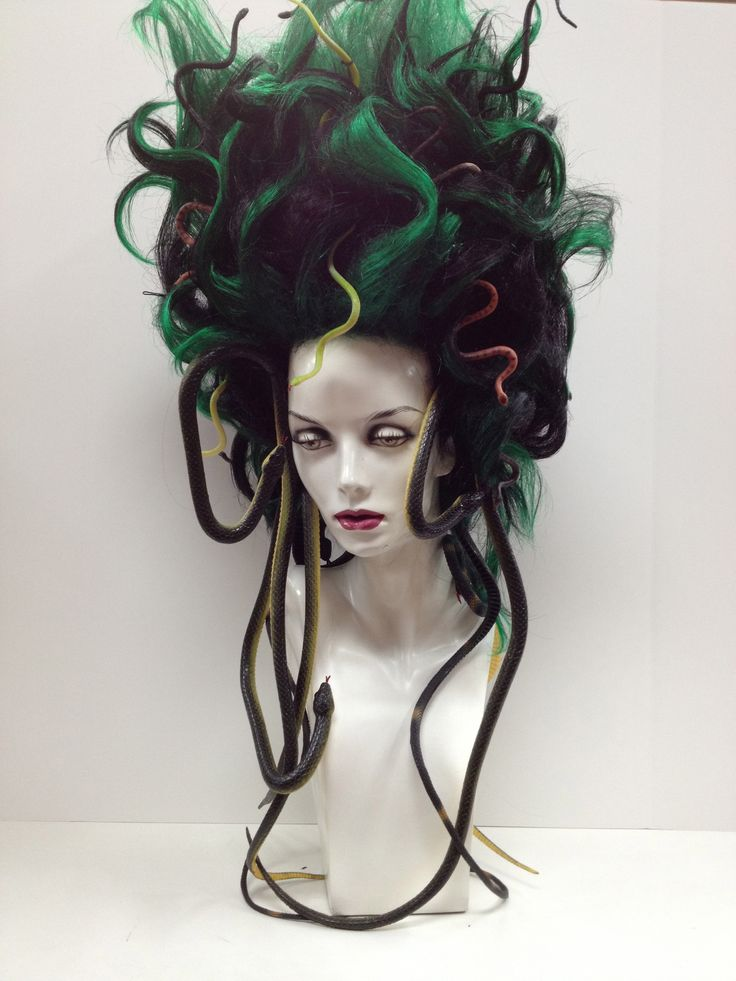 """""""Medusa Wig. Halloween."""" Holy crap. This is awesome!"""
