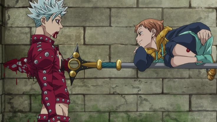 Ban and King. My two favorite characters from nanatsu no taizai (7 deadly sins).