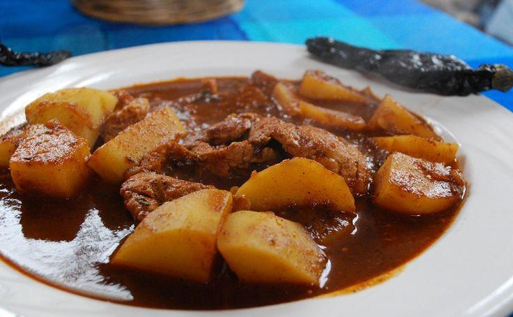 Bisteces en Salsa de Chile Pasilla. Receta