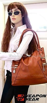 #175 NEW STYLE Brown Concealment Concealed Carry CCW Holster Gun Tote Purse