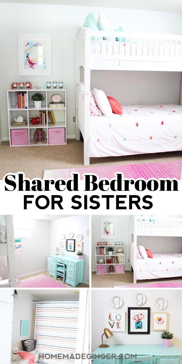 Shared Bedroom Ideas For Sisters Homemade Ginger In 2020 Sister Room Decor Diy Little Girls Room Girls Room Decor