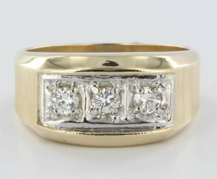Vintage 14k Gold Mens Diamond Ring Estate Fine Jewelry