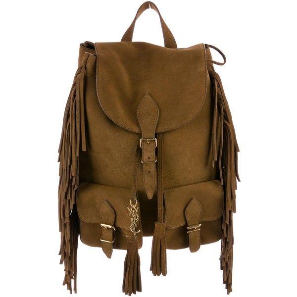 Pre-owned Saint Laurent Festival Fringed Backpack ( 1 2e979f26658f7