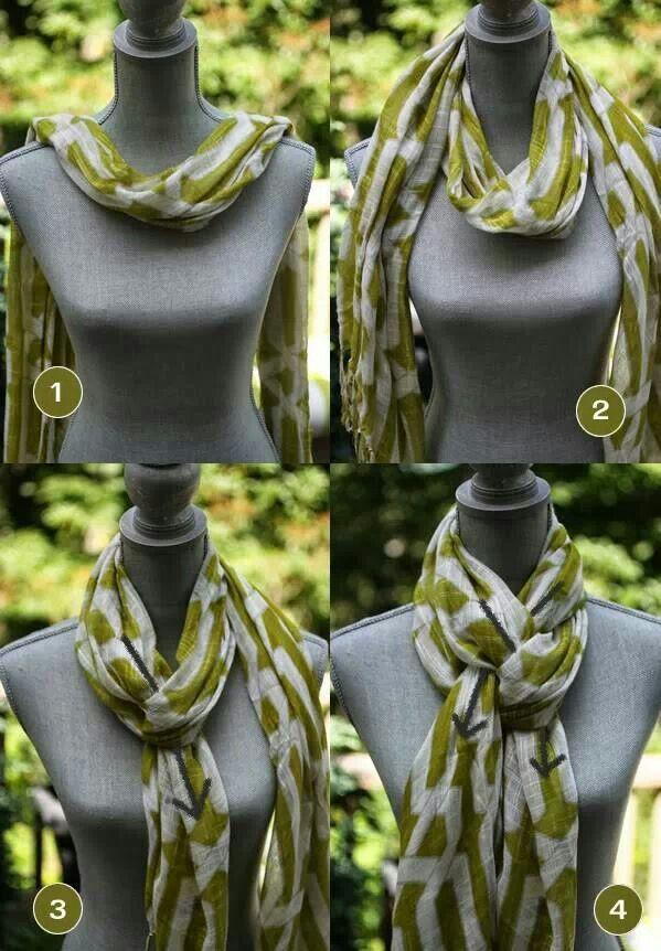Schal tragen Möglichkeiten