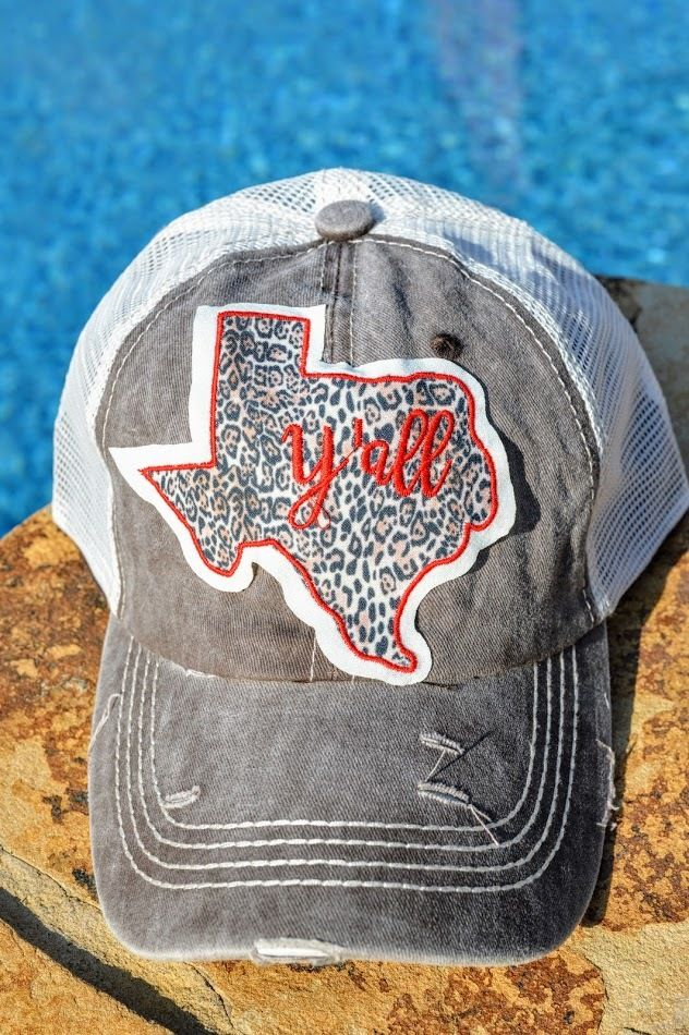 Texas Y'all Hat | The Pink Buffalo Boutique | Hats, Fashion