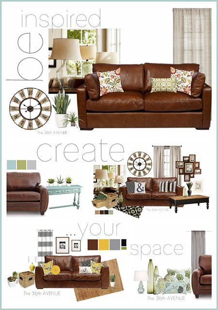 Living room decor inspiration color wheels and living rooms - Brown sofa living room decor ideas ...