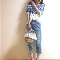 パンツスタイルでもかわいく♥雰囲気美人を叶える夏デートコーデ!の画像1
