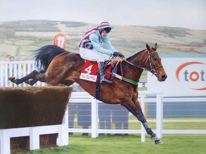 Best Mate Limited Edition Horse Racing Print by Equestrian Artist Stephen Smith
