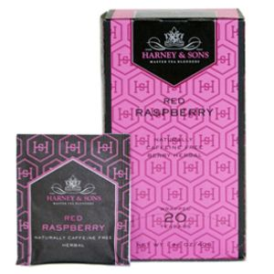 Tea Time | Red Raspberry Harney & Sons | Tisane is a mixture of rosehips, hibiscus, raspberry leaves and raspberry flavor