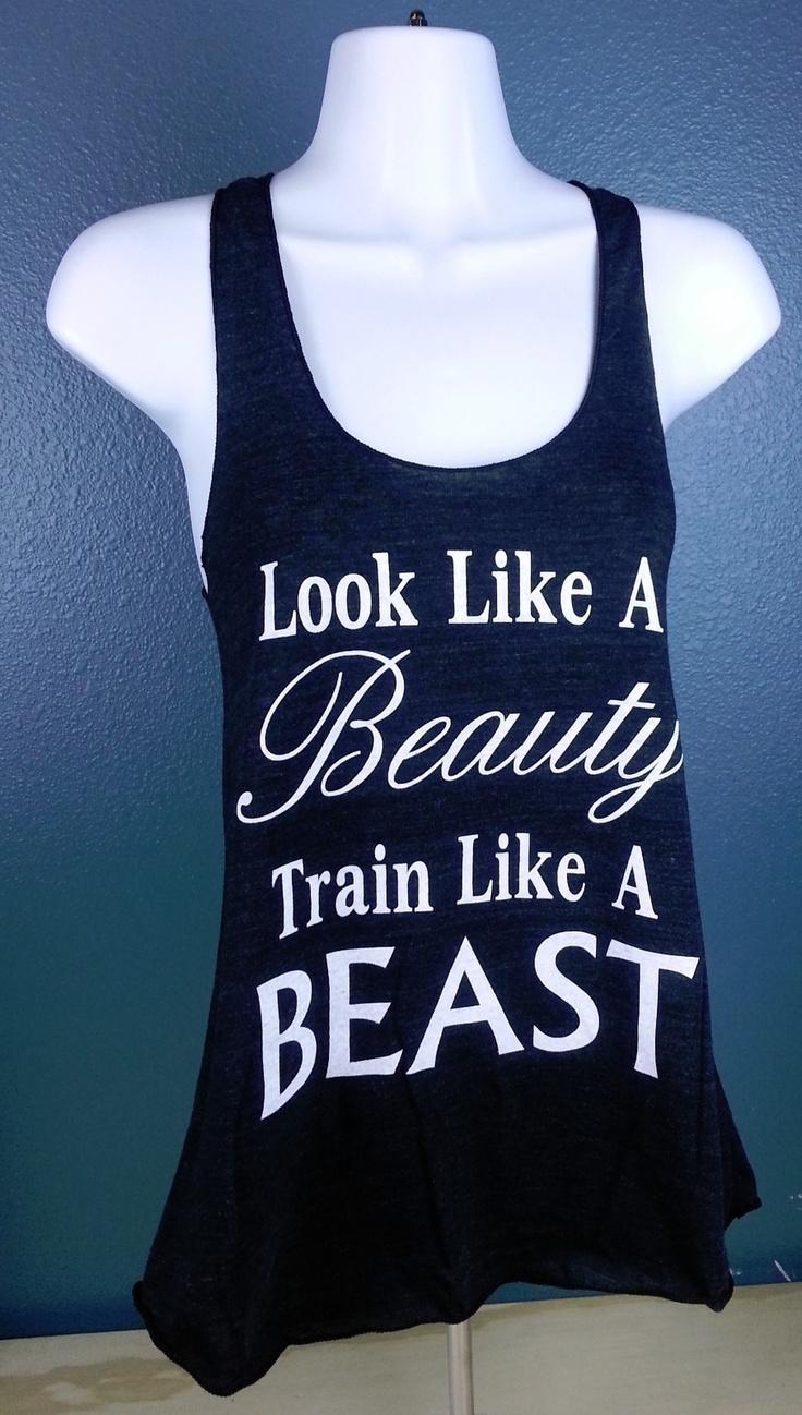 Look Like A Beauty Train Like A Beast Women's Tank Top American Apparel Fitness | eBay $21.99