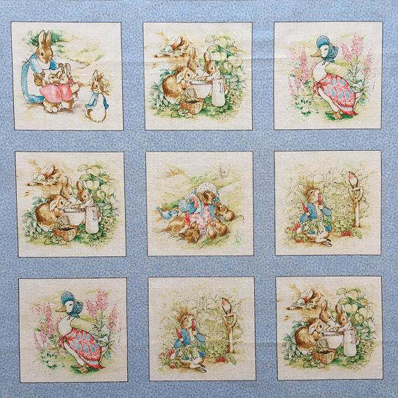 Beatrix Potter Peter Rabbit Fabric 100 Cotton Top Quality Peter Rabbit And His Friends Are In Bor Peter Rabbit Fabric Peter Rabbit Peter Rabbit And Friends