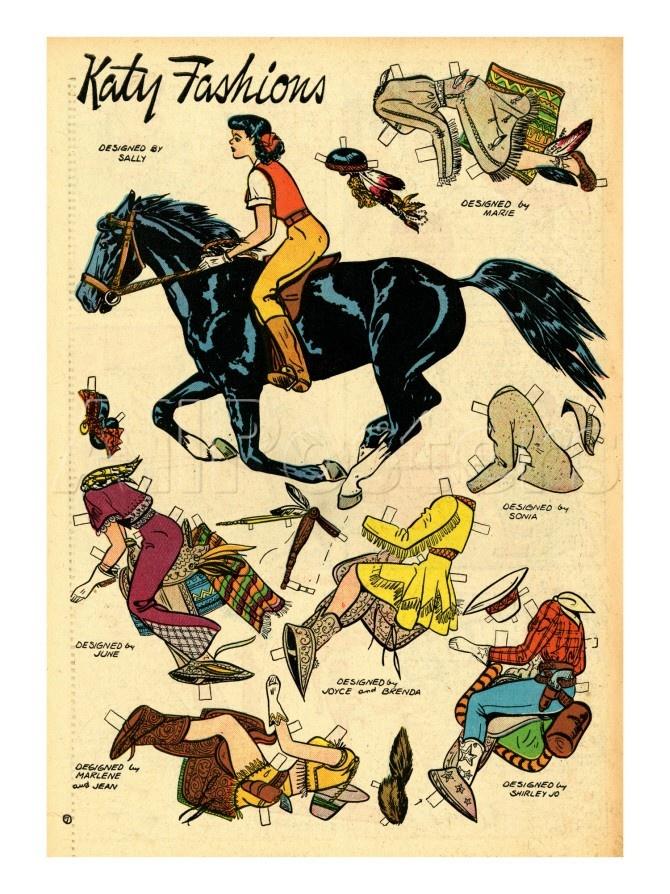 Archie Comics Retro: Katy Keene Cowgirl Fashions (Aged) Póster por Bill Woggon