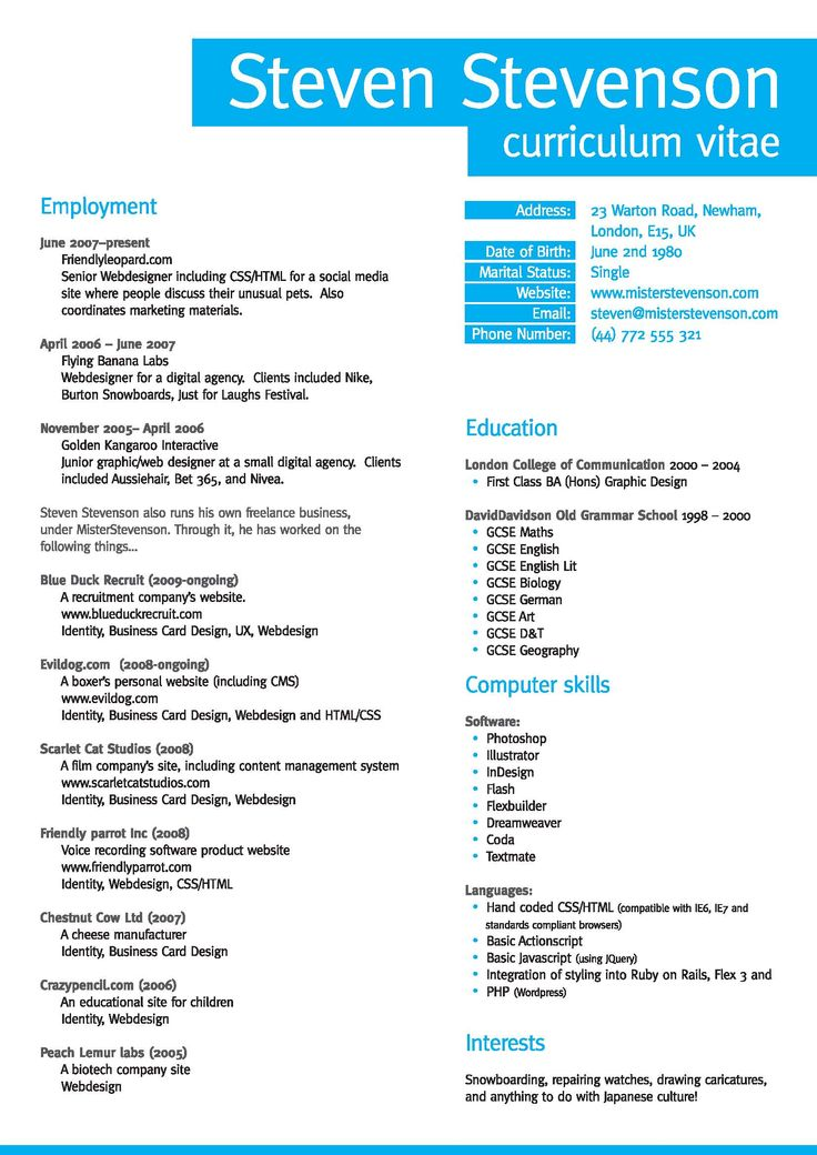 Best Resume Samples 35 Best Cv And Résumé Templates. 1212 Best ...
