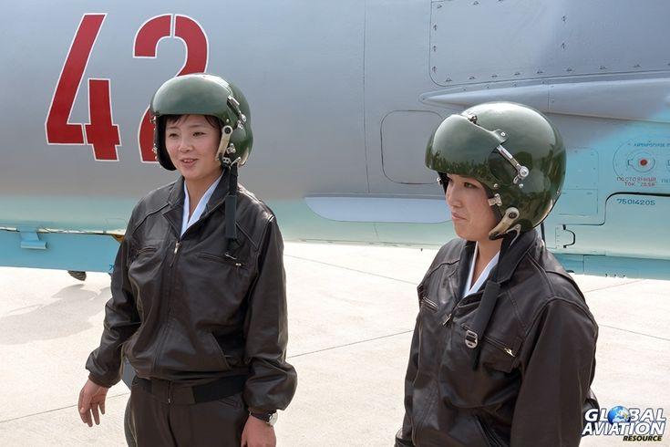 KPAAF MiG-21 pilots Rim Sol and Jo Kum-hyand - © Paul Filmer - Global Aviation Resource