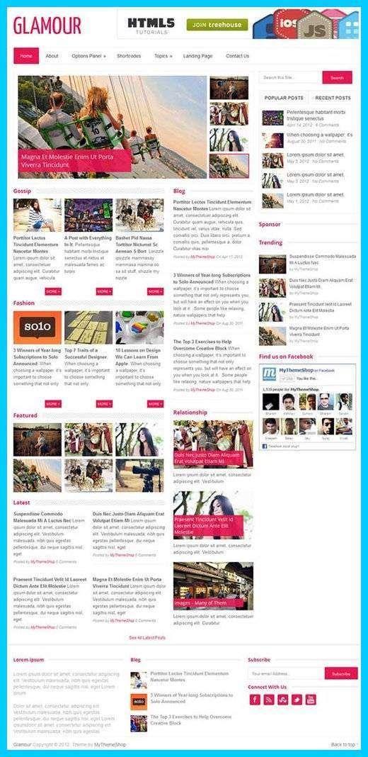 MyThemeShop - Glamour WordPress Theme Review