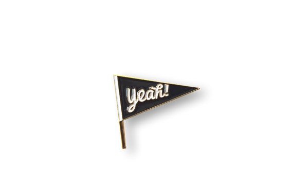 YEAH!  This listing is for a super cool Pennant flag enamel pin, perfect to decorate the lapel of your favorite jacket or your awesome