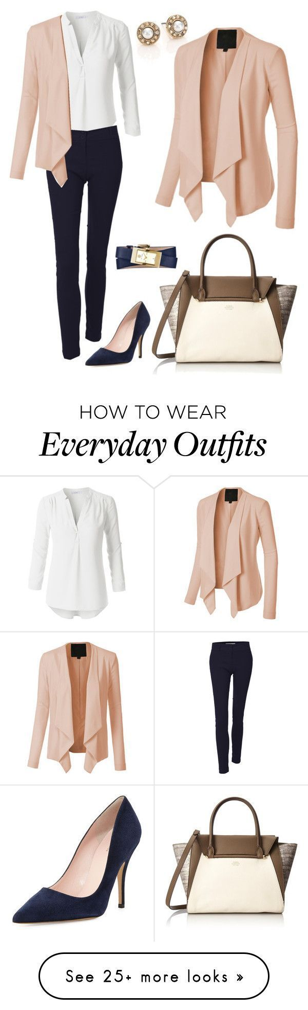 Everyday Work Outfit by le3noclothing on Polyvore featuring Oscar de la Renta, V…