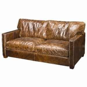 Distressed Leather Sofa D U N C A N N E S T Pinterest