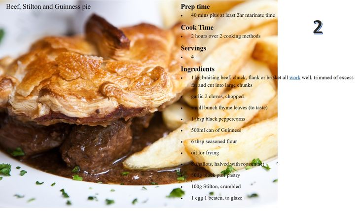 Beef, Stilton and Guiness Pie | The Food and Drink Office | Pinterest ...