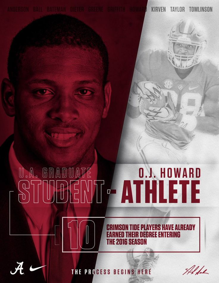 "O.J. Howard - UA graduates it's Athletes! Champions for Life!! Come join the ""Process""! #Scoop&Score #DLP #Alabama #RollTide #Bama #BuiltByBama #RTR #CrimsonTide #RammerJammer"