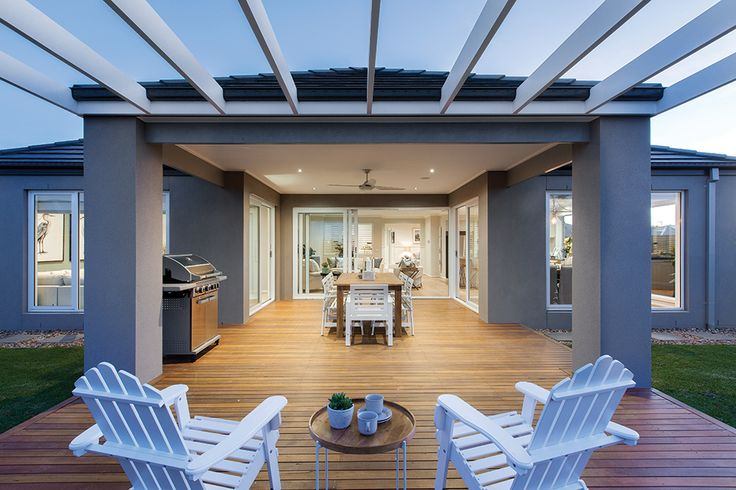Grand Alfresco on our Vancouver display home with a Classic Hamptons World of Style.