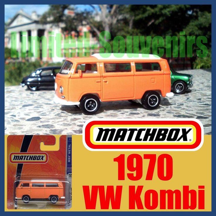 Matchbox Orange 1970 VW Kombi Camper Van T2 Bus RARE MOC Volkeswagen New on Car