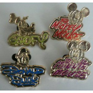 Disney Trading Pin Gold Characters Signature SET need minnie