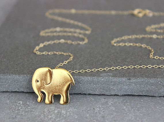 Gold elephant pendant elephant necklace teens necklace elephant jewelry elephant charm necklace on Etsy, 152.03 ₪