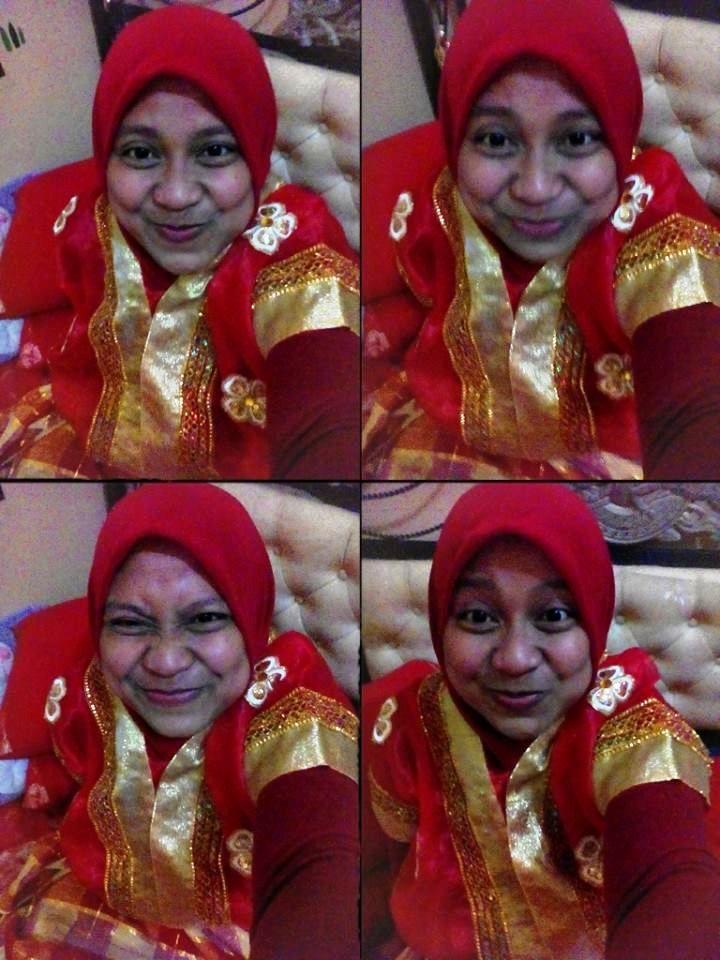 just to capture of my BAJU BODO at home,,,MERAH ITU BAHAGIA