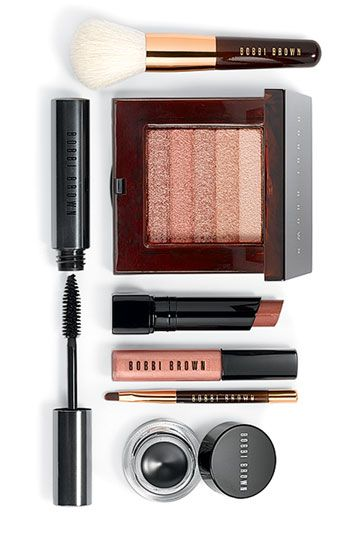Bobbie Brown beauty: I love her 'shimmer bricks'. I use a couple of the shades on my eyes from the Rose & bronze bricks.