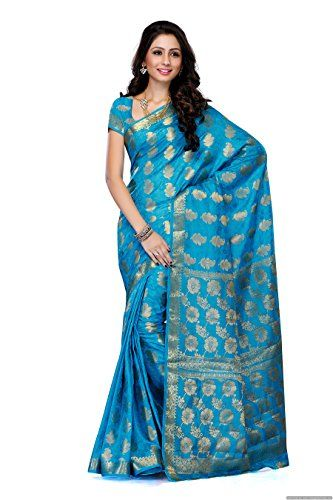 Mimosa Women'S Tussar Silk Saree With Blouse,Color:Ananda(3188-104-TUS-AND) - http://www.onlinesaleindia.in/product/mimosa-womens-tussar-silk-saree-with-blousecolorananda3188-104-tus-and/