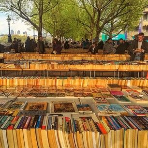 Southbank Book Market Closest station: Waterloo The Southbank Centre's Book Market is open daily beneath Waterloo Bridge and it's the best place in the whole world. What's more, once you've found something new to read, you can snuggle up on a bench with a river view and make a day of it.