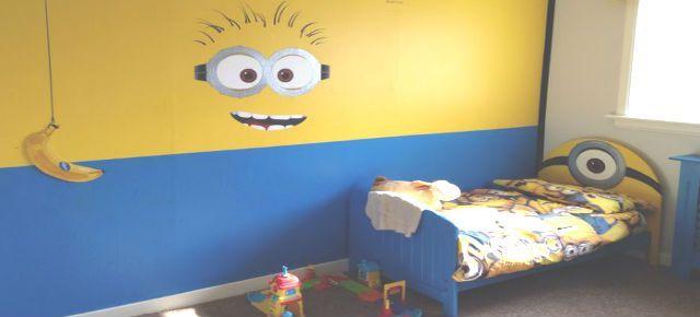 Naughty Minion Themed Kids Room Decor Minions Bedroom Ideas