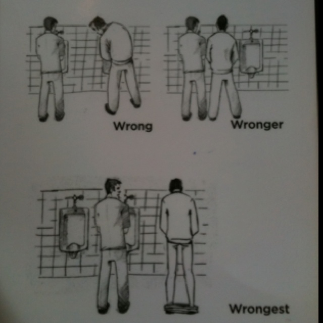 [RMX] Proper Urinal Etiquette by broken - Meme Center